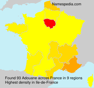 Surname Adouane in France