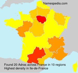 Surname Adras in France