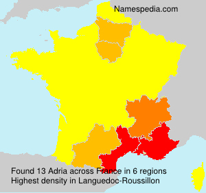 Surname Adria in France