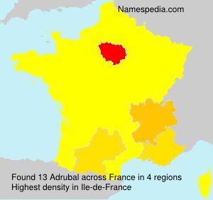 Surname Adrubal in France