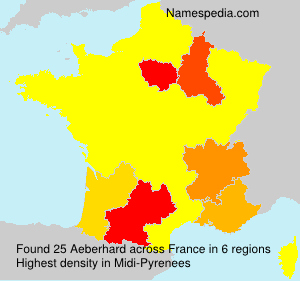Surname Aeberhard in France