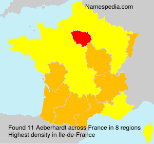 Surname Aeberhardt in France