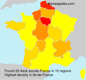 Surname Aeck in France