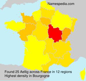 Surname Aellig in France