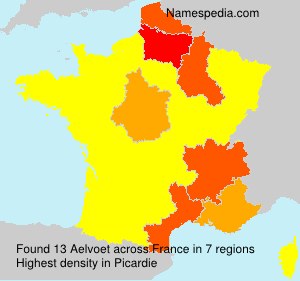 Surname Aelvoet in France