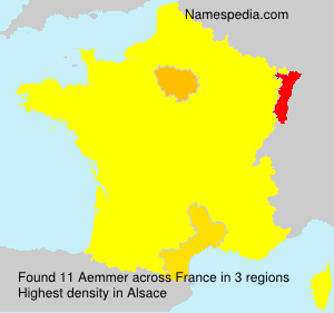 Surname Aemmer in France