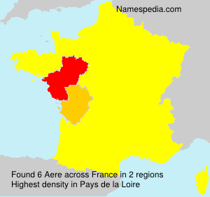 Surname Aere in France