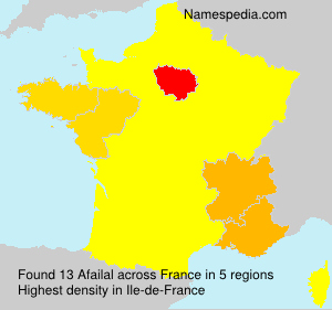 Surname Afailal in France