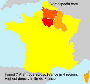 Surname Afantrous in France