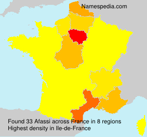 Surname Afassi in France