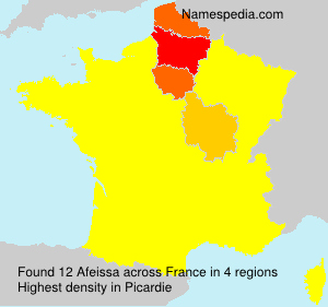 Surname Afeissa in France