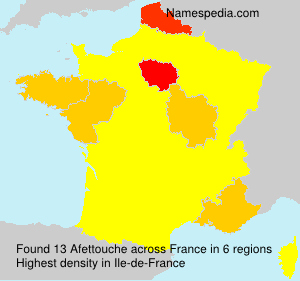 Surname Afettouche in France