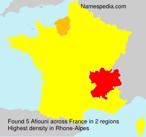 Surname Afiouni in France