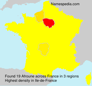 Surname Afroune in France