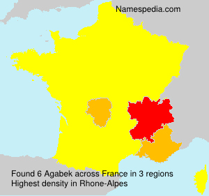 Surname Agabek in France