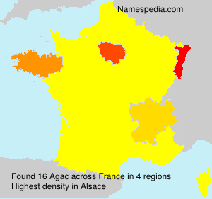 Surname Agac in France