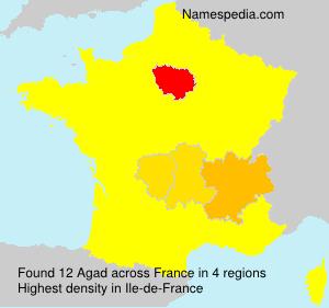 Surname Agad in France
