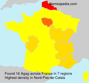 Surname Agag in France