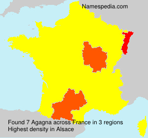 Surname Agagna in France