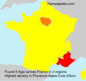Surname Agai in France