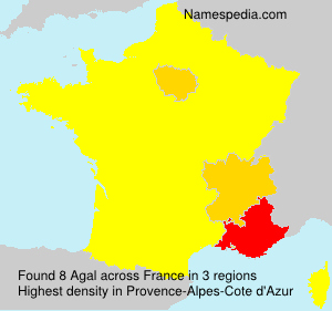 Surname Agal in France