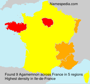 Surname Agamemnon in France