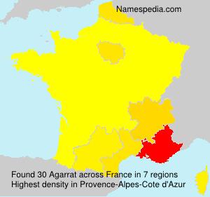 Surname Agarrat in France