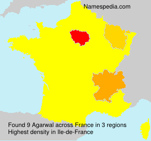 Surname Agarwal in France