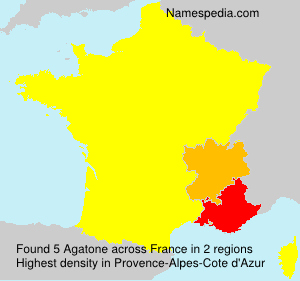 Surname Agatone in France