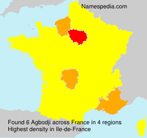 Surname Agbodji in France