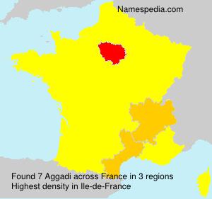 Familiennamen Aggadi - France