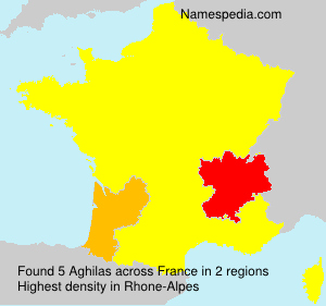 Surname Aghilas in France