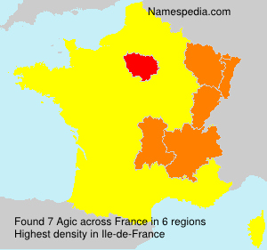 Surname Agic in France