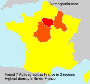 Familiennamen Agirdag - France