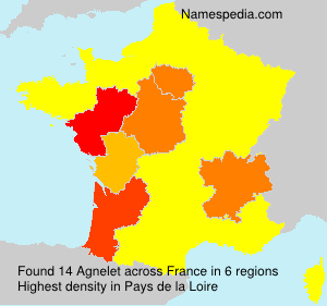 Surname Agnelet in France