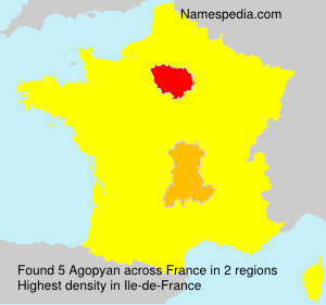Surname Agopyan in France