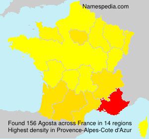 Familiennamen Agosta - France