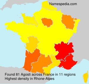 Surname Agosti in France