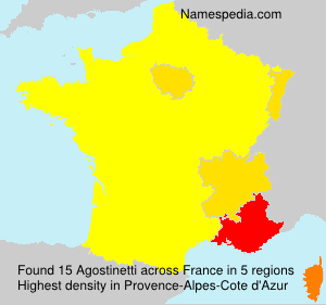 Surname Agostinetti in France