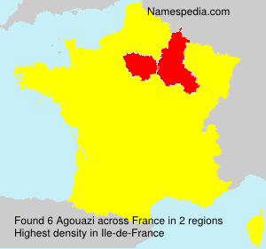 Surname Agouazi in France