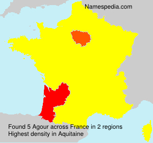 Surname Agour in France