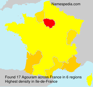 Surname Agouram in France