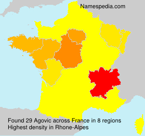 Surname Agovic in France
