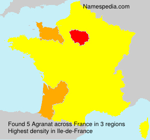 Surname Agranat in France