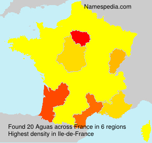 Familiennamen Aguas - France