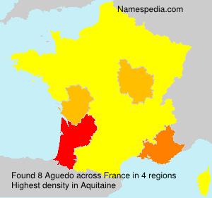 Familiennamen Aguedo - France