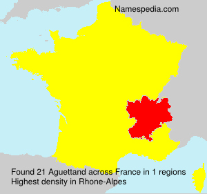 Surname Aguettand in France