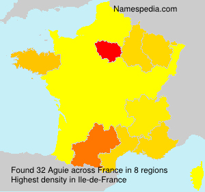 Surname Aguie in France