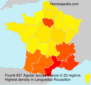 Surname Aguilar in France