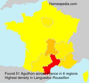 Familiennamen Aguilhon - France